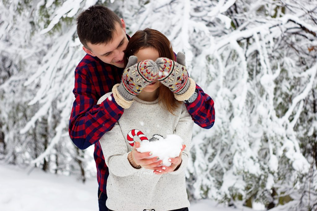 flirty christmas photo caption for couples