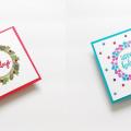 Traditional & Nontraditional DIY Christmas Cards Using The Same Supplies