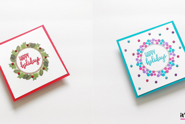Traditional & Nontraditional DIY Christmas Cards Using The Same Supplies
