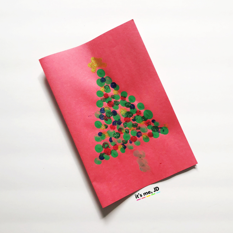 Fun Fingerprint Christmas Card Ideas That Kids Can Make