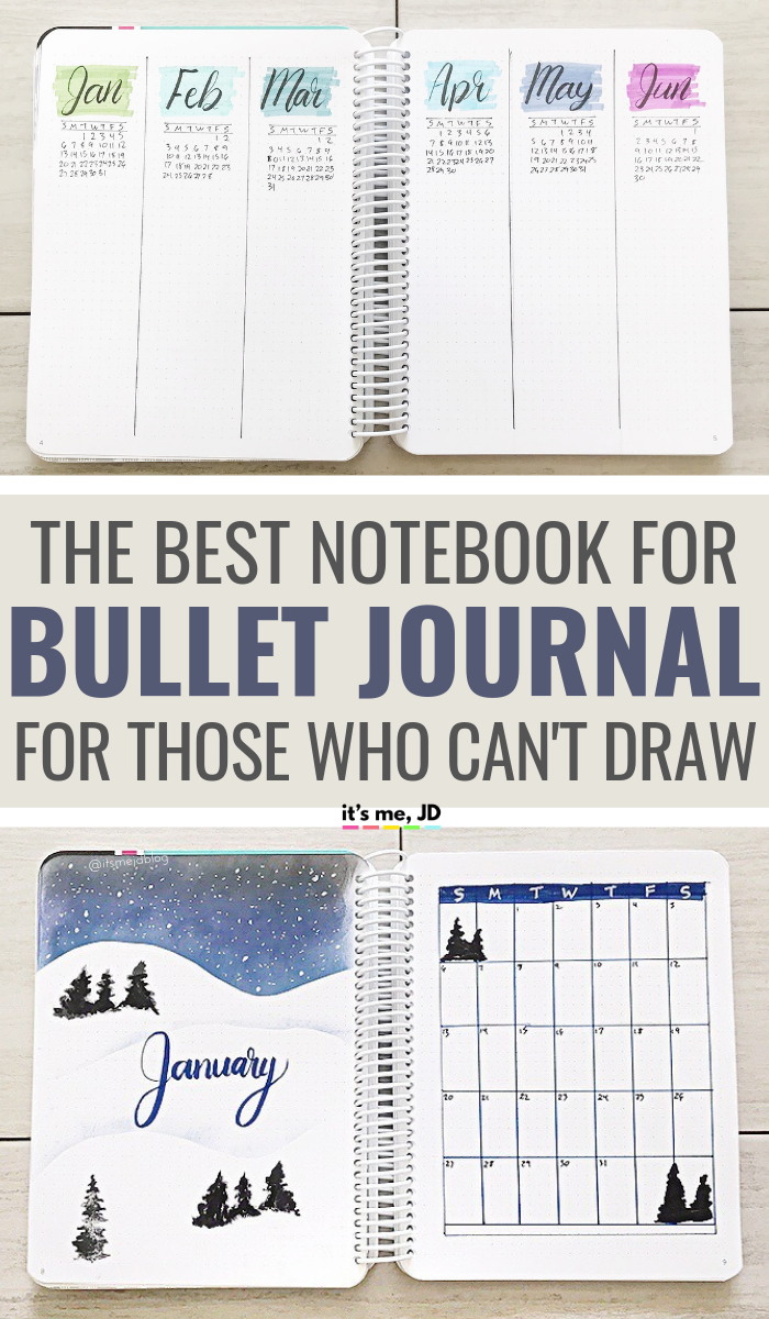 The Best Bullet Journal Ever? A Review For The Dot Grid Notebook For Those Who Can't Draw #bulletjournal #bujo #billetjournaling #bulletjournalideas