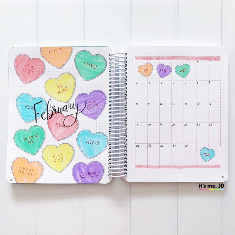 February 2019 Bullet Journal Layout, Plan With Me, Planner Spread