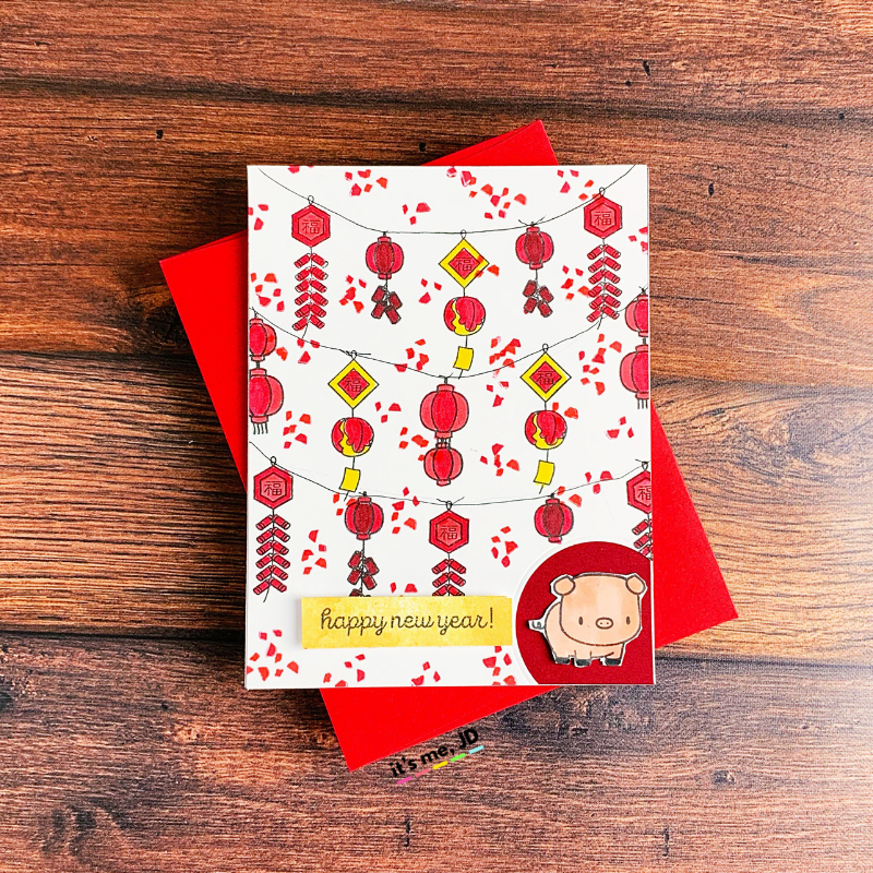Lunar New Year Cards To Celebrate Chinese and Vietnamese New Year lanterns