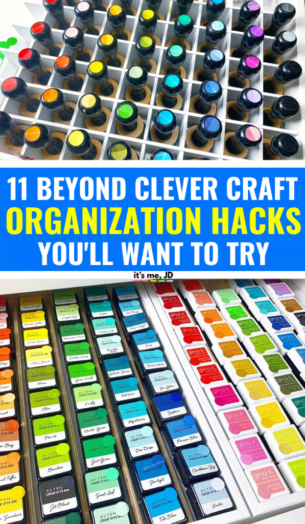Beyond Clever Craft Organization Hacks You'll Want To Try, Storage ideas for your crafty supplies #craftstorage #craftorganization #craftroom #craftroom #craftorganzing #organizedlife #craftroomorganization