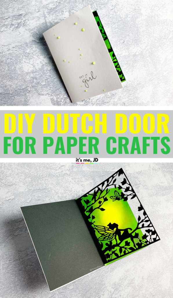 DIY Dutch Door Tutorial In Paper Crafts, Interactive Cards, Feminine Fairy Card #papercrafts #cardmaking #papercraft #handmadecards