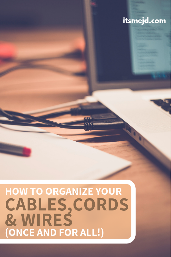 How To Organize Your Cables, Cords, And Wires (Once And For All!), electronics and tv cable management ideas and tips #organization #organize #organized #declutter #organizing #simplify
