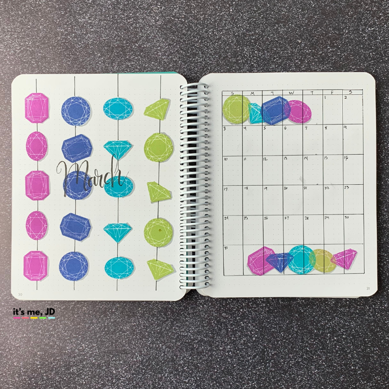 March Bullet Journal Setup | Plan With Me Layout | Planner Spread