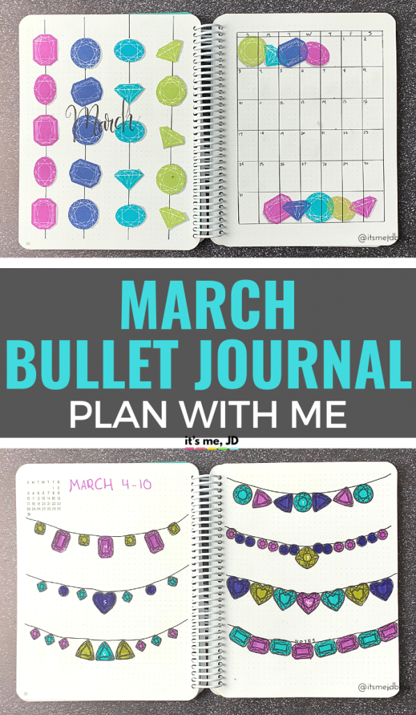 March 2019 Bullet Journal Layout _ Plan With Me _ Planner Spread, easy bujo setup, #bulletjournal #bulletjournals #bujo #plannerspread #planwithme #bulletjournallayout #plannerlife