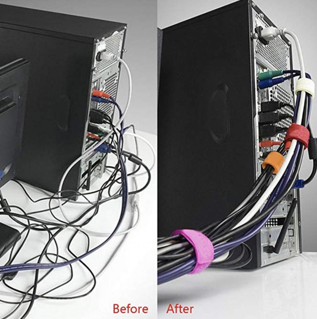 Organize Wires Under Desk