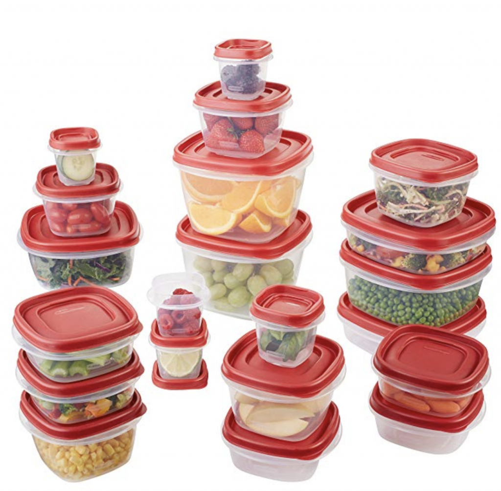 organize tupperware and food storage containers