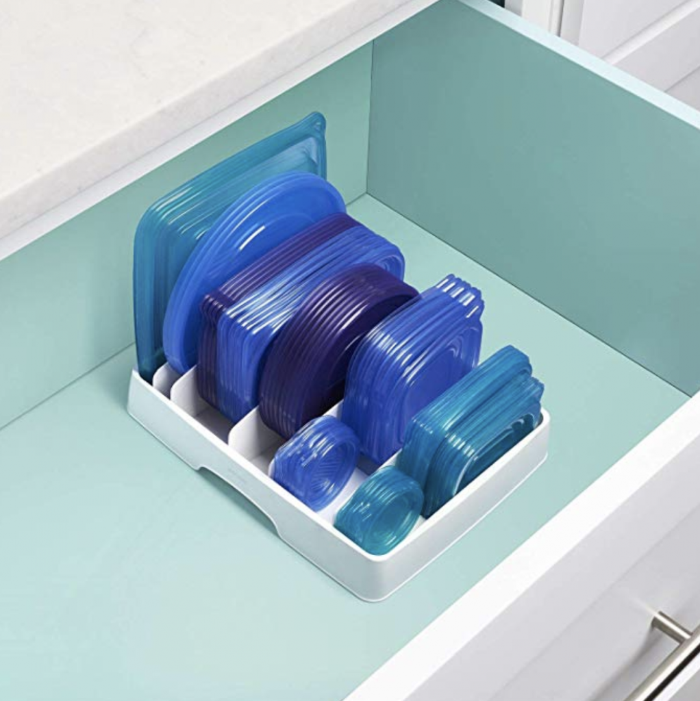 How to Organize Tupperware, food storage lids and containers