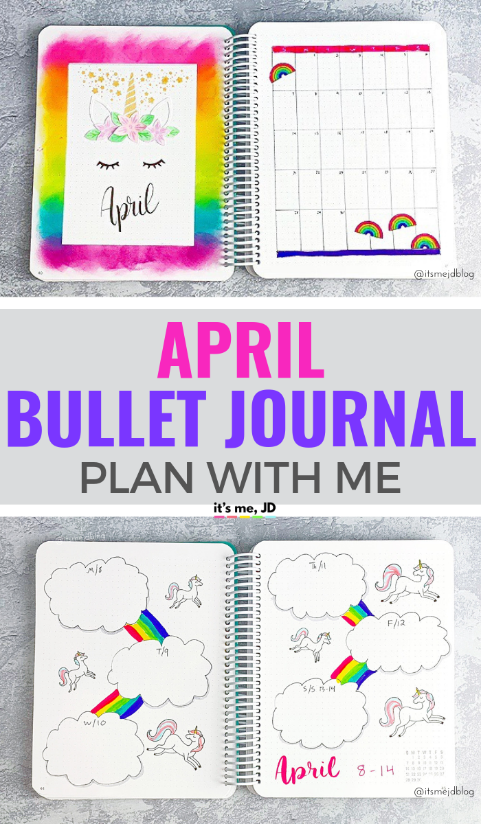 April 2019 Bullet Journal Layout _ Plan With Me _ Planner Spread #bulletjournal #bulletjournalideas #bulletjournalinspiration #bujo #aprilbulletjournal