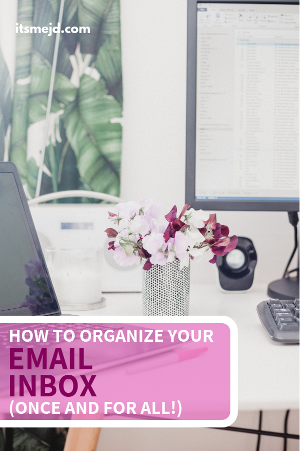 How To Organize Your Email Inbox (Once And For All!). Use for outlook or gmail #emailmarketing #productivity #email #organization #emailsuccess #workplanner