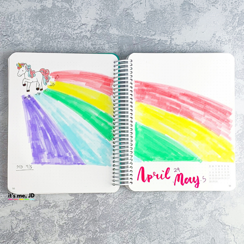 April 2019 Bullet Journal Layout _ Plan With Me _ Planner Spread