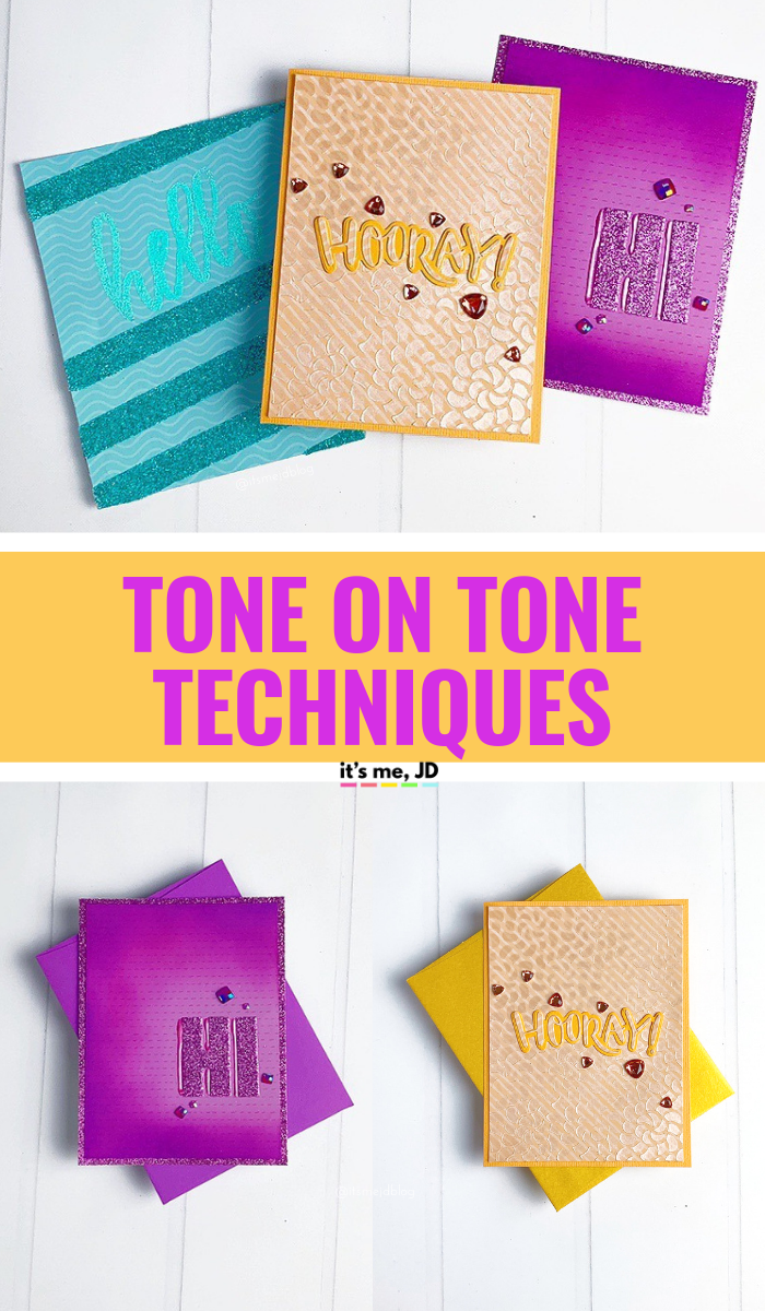 Tone On Tone Techniques For Card Making And Paper Crafts #papercraft #cardmaking #handmadecards #cardmaker #papercraft #papercrafting