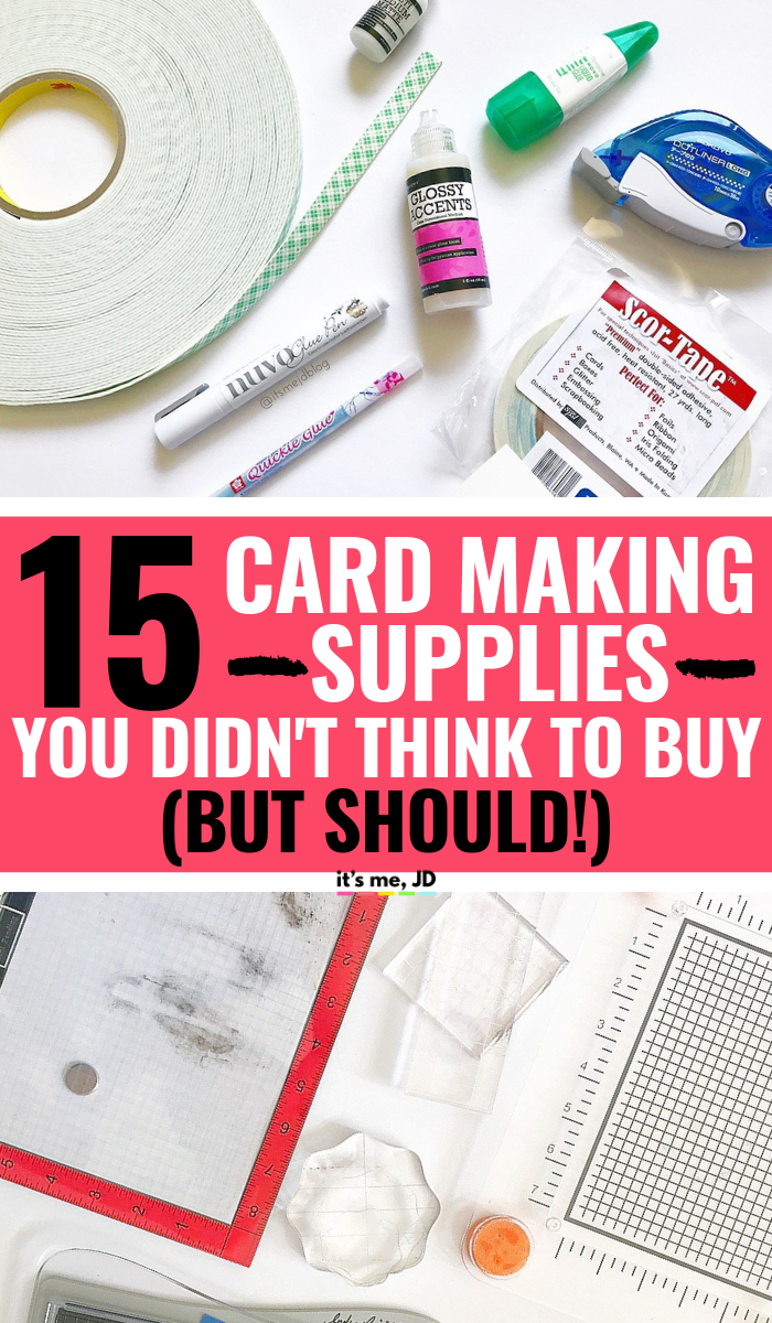 Card Making Supplies You Didn't Think To Buy (But Should!), cardmaking essentials and basic #papercraft #cardmaking #papercrafts #handmadecards #cardmaker