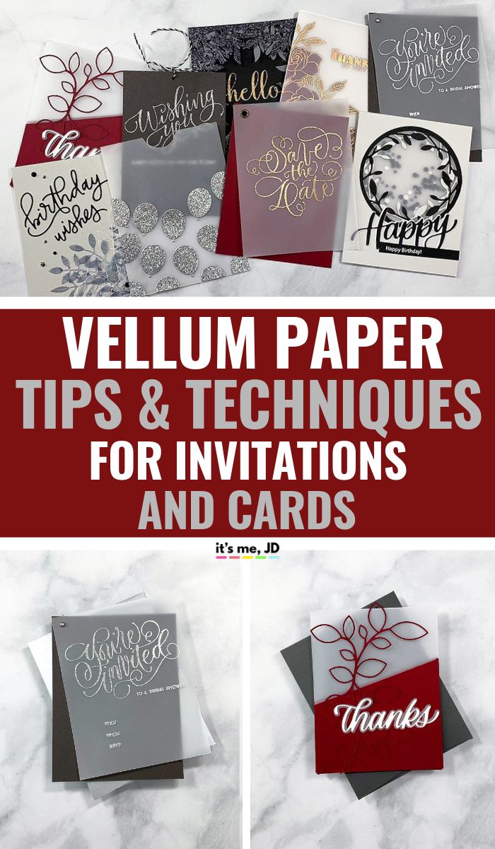 Vellum Paper Tips and Techniques For Cards And Invitations, #weddinginvitation #weddinginvitations #vellumcards #vellumoverlay #weddingstationery