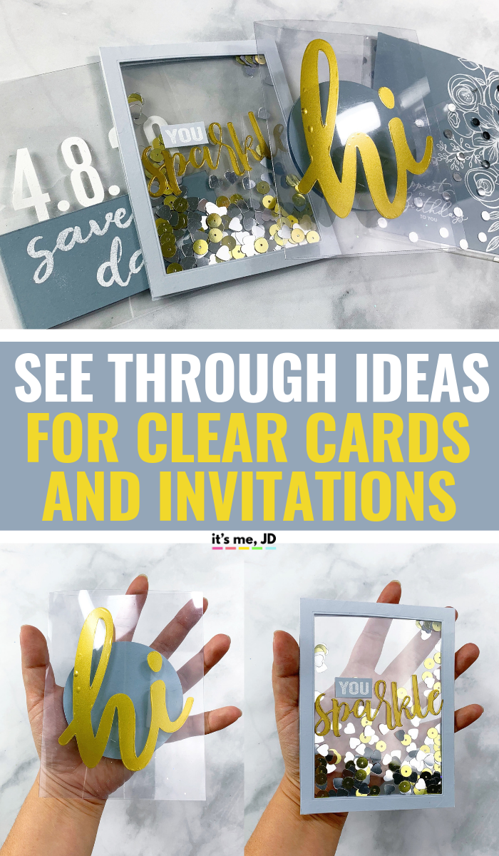 DIY See Through Ideas For Clear Cards And Invitations #cardmaking #papercraft #handmadecards #greetingcards #weddinginvitations