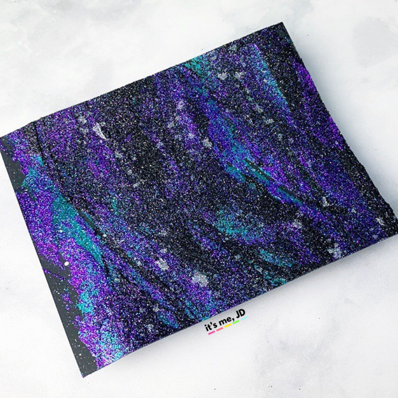 MORE Easy Ways To Create A DIY Galaxy Background, glitter gel