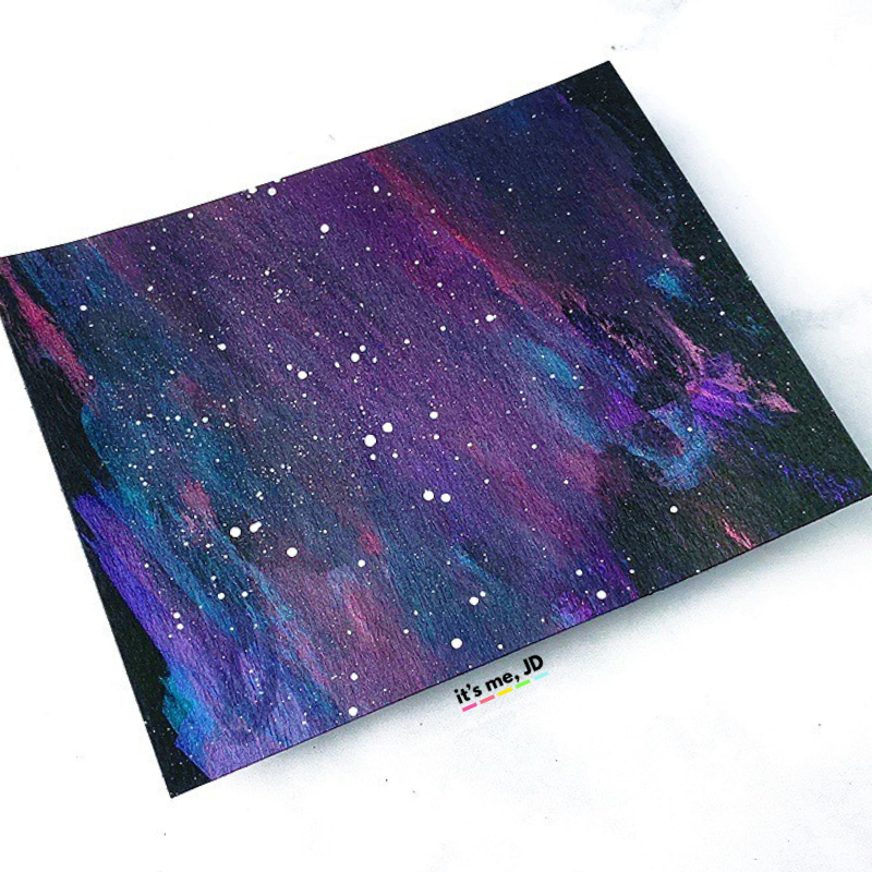 MORE Easy Ways To Create A DIY Galaxy Background, metallic watercolor