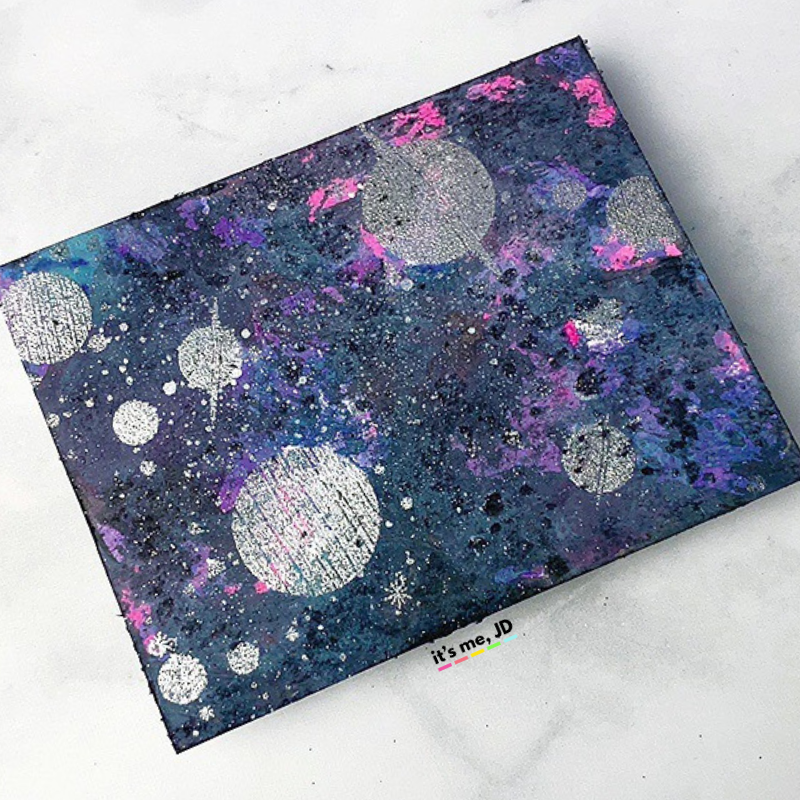 MORE Easy Ways To Create A DIY Galaxy Background, distress oxide ink
