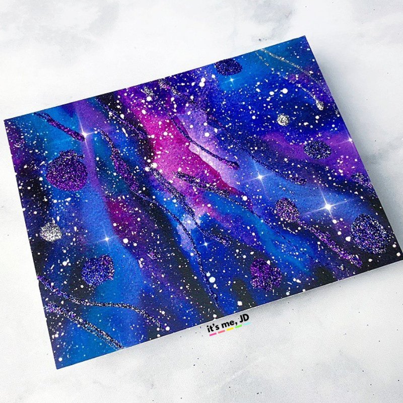 MORE Easy Ways To Create A DIY Galaxy Background, glitter