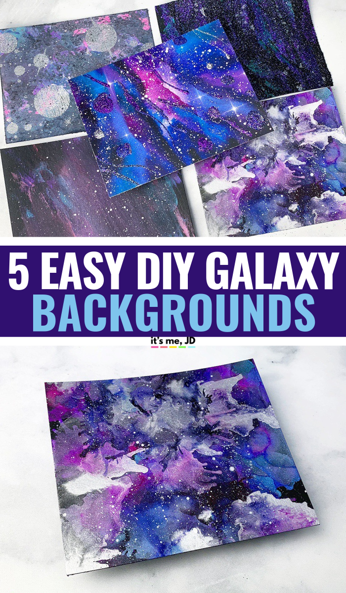 MORE Easy Ways To Create A DIY Galaxy Background #galaxy #galaxybackground #galaxyart #galaxypainting #watercolorgalaxy