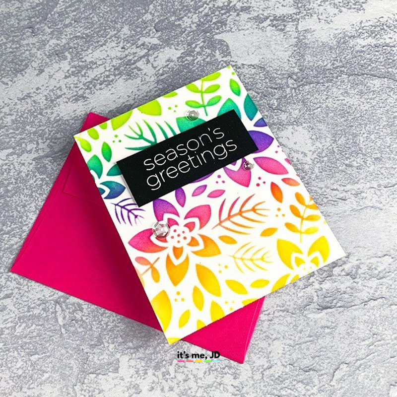 DIY Rainbow Christmas Cards, Modern handmade holiday cards #papercrafts #cardmaking #christmascards #rainbowcards