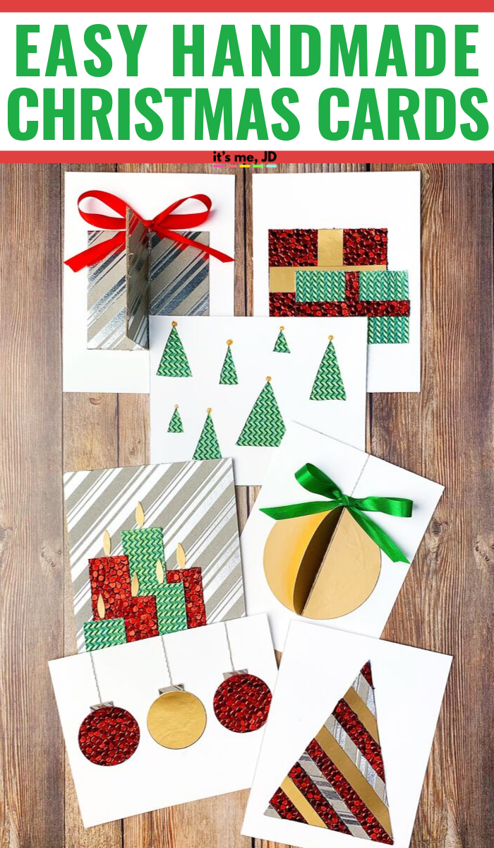 Easy DIY Christmas Card Ideas Patterned Paper #christmascards #holidaycards #christmascard #holidaycard