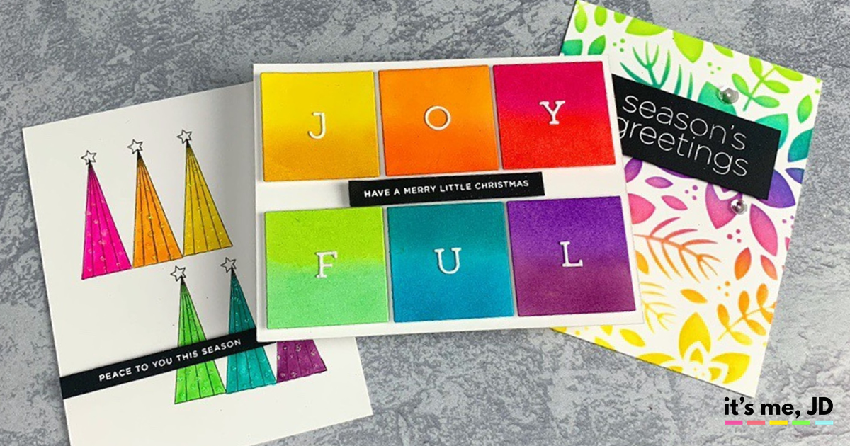 DIY Rainbow Christmas Cards