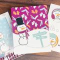 DIY Retro Christmas Cards