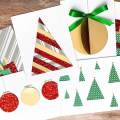 Easy DIY Christmas Card Ideas Patterned Paper
