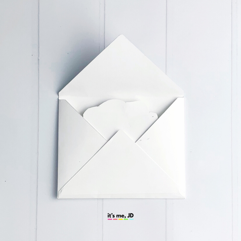 DIY Pull-out cards and envelopes rainbow