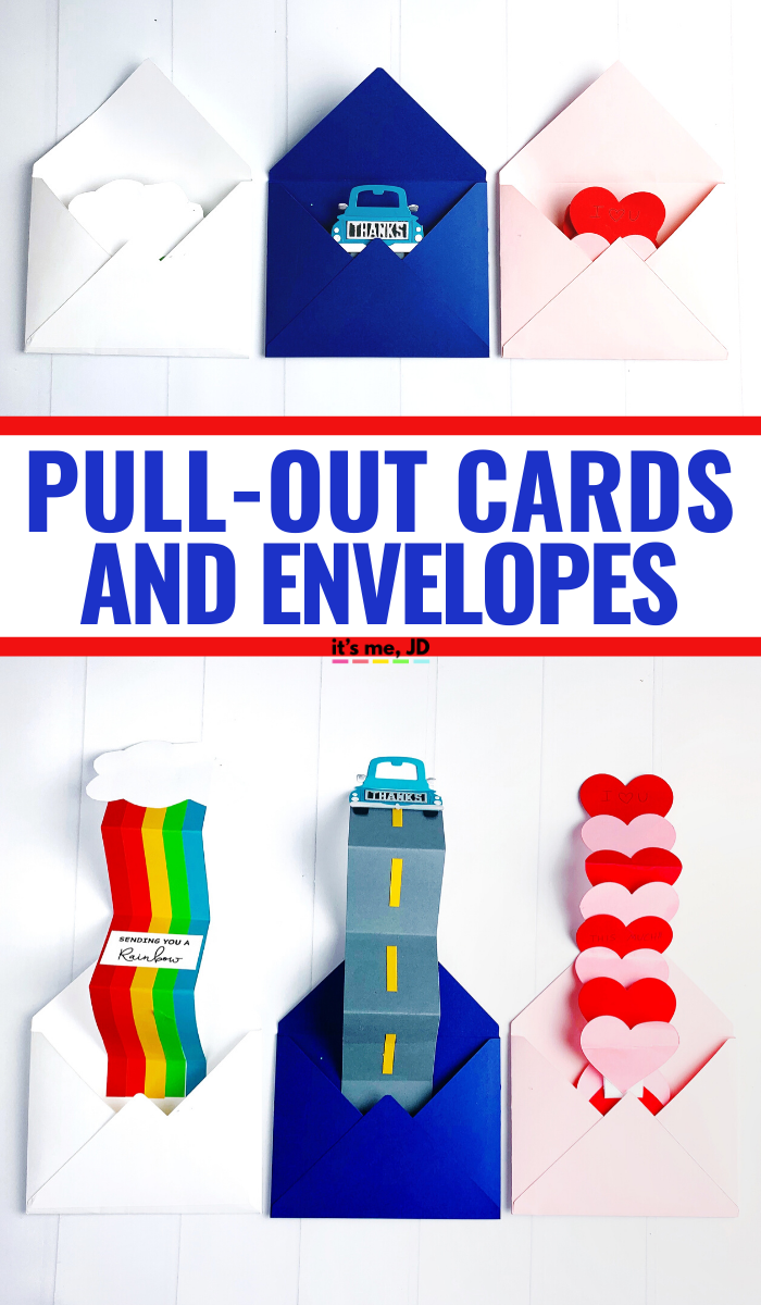 DIY Pull-out cards and envelopes #papercraft #cardmaking #handmadecards #diycards
