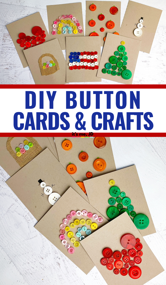DIY Button Cards and Paper Crafts, holiday