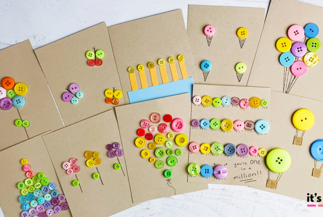 DIY Button Cards and Paper Crafts