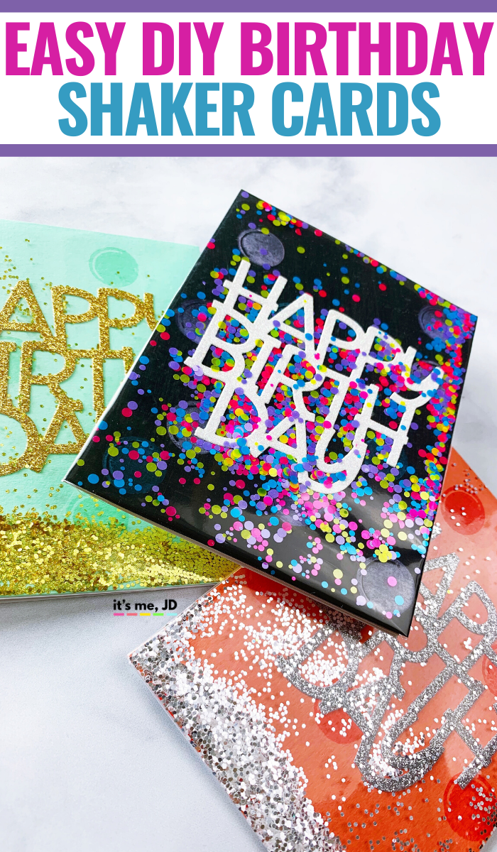 Easy Shaker Cards Diy Birthday Card Ideas, Quick handmade paper crafts #shakecard #birthdaycard #diycards #papercrafts