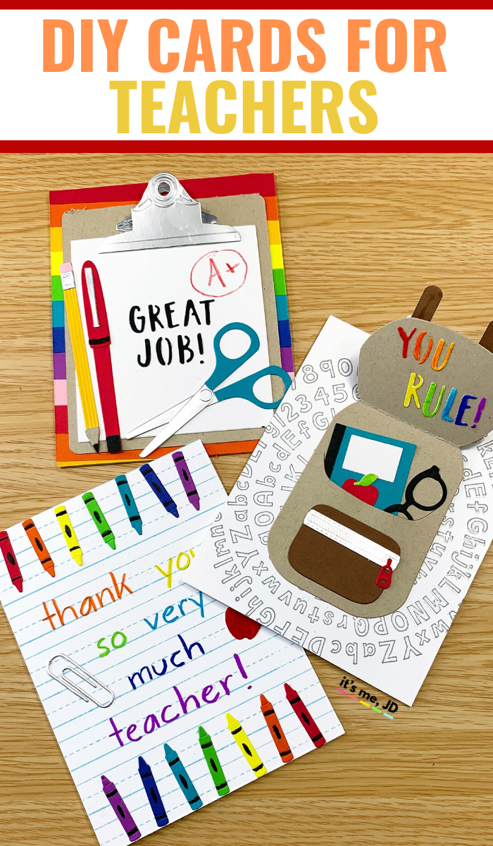 DIY Cards For Teachers / Easy Handmade Teacher Card Ideas / Teacher's Day Cards #teachercards #teachersday #teacherappreciation #teacherappreciationweek #teachergifts