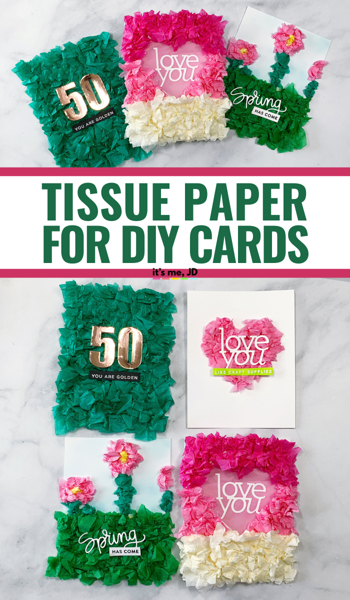 Tissue Gift Wrap Paper Card And Paper Crafts #cardmaking #papercrafts #handmadecards #greetingcards #tissuepaper #giftwrap