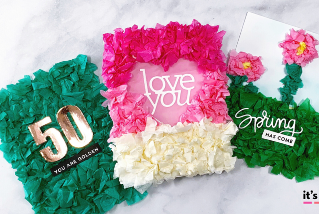 Tissue paper cards