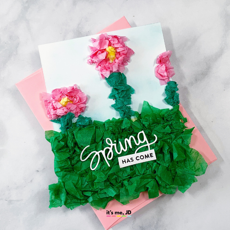 Tissue Gift Wrap Paper Card, daisy flower cards
