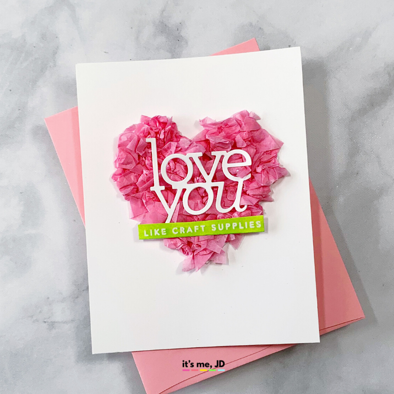 Tissue Gift Wrap Paper Card, heart
