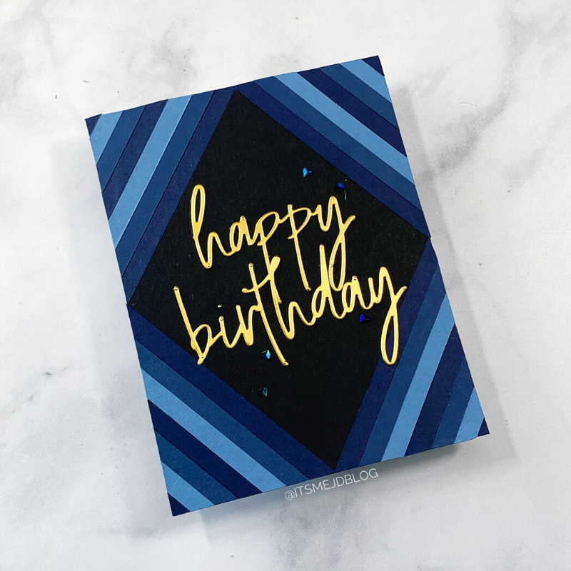 DIY Scrap Paper Cards | Paper Strip Card Designs, masculine birthday