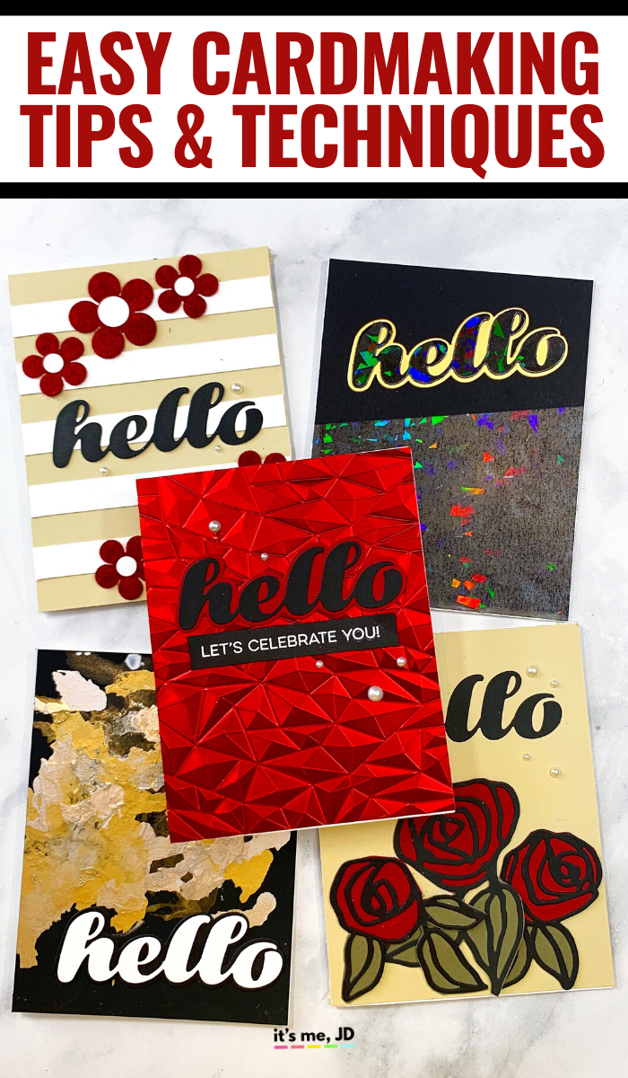 Easy Cardmaking Techniques That Bring A WOW FACTOR To Any Paper Craft, tips for handmade cards #cardmaking #papercrafts #diycards #cardmakingtips #cardmakingtechniques