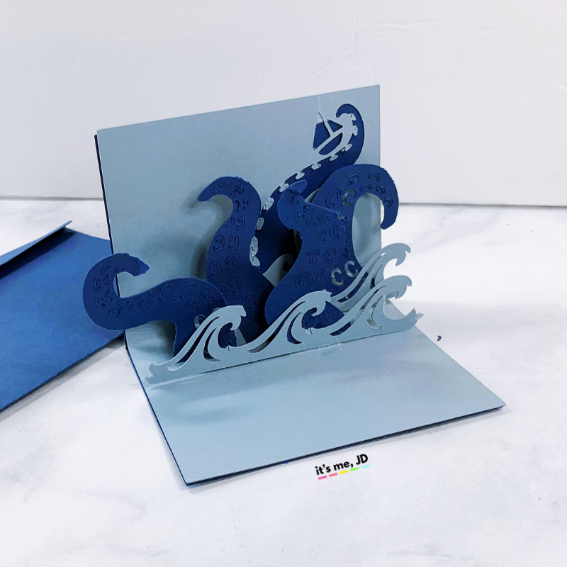 kraken pop up cricut card