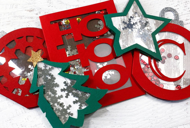 Cricut Christmas Card Ideas_ Easy Shaker Holiday Shaker Cards With Cricut